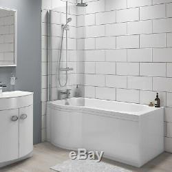 1500 x 520mm P-Shaped Bath Front Panel Sanity Grade Acrylic Bathroom Tub Cover