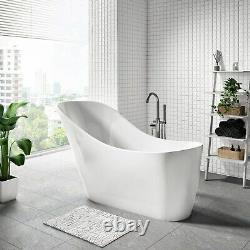 1535mm Freestanding Extended Slipper Bath White Acrylic Bathroom Tub