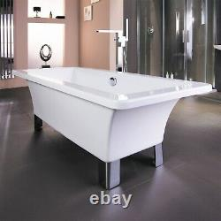 1700 x 750 Traditional Freestanding Bath Acrylic Square 0 Tap Holes Bathroom Tub