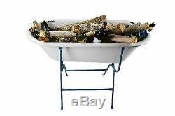 1930s Vintage antique baby bathtub, Porcelain wash basin