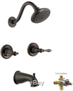 2 HANDLE Bath Faucet Set 1 SPRAY Tub Shower Head Accessory Wall Mount Fixture