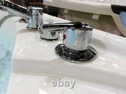 2 Person Corner Hydrotherapy Whirlpool Bathtub Spa Massage Therapy Hot Tub HEAT