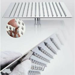 3-Way Conceal Shower Set Mixer Valve 16Head Handheld Spray Bathtub Spout Chrome