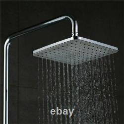 3 Way Rainfall Shower Mixer Tap Set With LCD Digital Display System Tub Spout UK