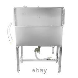 34 Dog Pet Grooming Bath Tub Stainless Steel Professional Bathtub