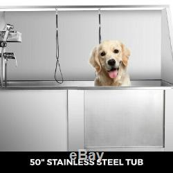 38''-62'' Pet Dog Cat Wash Shower Grooming Bath Tub Professional Stainless Steel