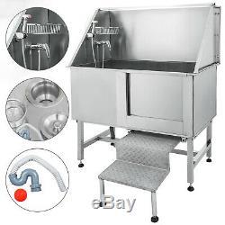 50 Dog Pet Grooming Bath Tub Wash Shower Shampoo Rack Waterproof Professional