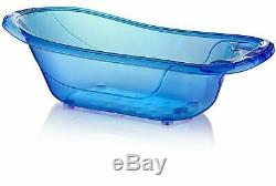50 Litre Large Plastic Baby Bath Blue Aqua Baby Tub Kids Infant Shower
