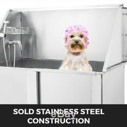 50'' Pet Dog Grooming Bath Tub Bathtub Stainless Steel Wash Station Shower Salon