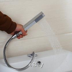 5PCs Chrome Bathroom Waterfall Faucet Shower Set Bathtub Basin Sink Mixer Tap