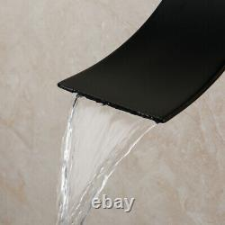 8 Rain Shower Faucet Set Square Shower Heads Mixer Bathtub Waterfall Spout Tap