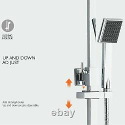 8 shower head faucet set bathtub spout three-way mixing faucet chrome plated UK