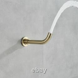 8Brushed Gold Rain Shower Combo Set Wall Mount Tub Spout Luxury Shower Faucet