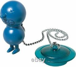 A di Alessi AMGI02 AZ Mr. Suicide, Bathtub plug with float Light Blue