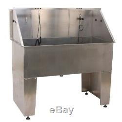 AEOLUS Free Standing Stainless Steel Bath Tub Dog Pet Grooming