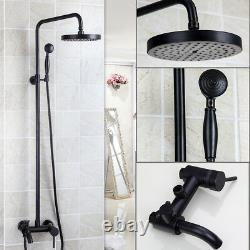 AS Oil Rubbed Bronze Bathroom Rainfall Shower Faucet Set Tub 2 Handle Mixer Tap
