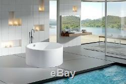 Acrylic Bathtub Freestanding Soaking Tub Modern Bathtub Dana 51