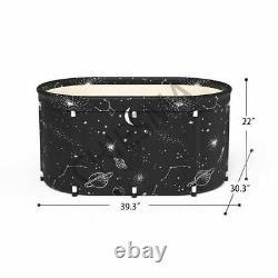 Adult Bathtub Portable Shower Household Large Folding Water Spa Bath Tub Black