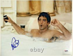 Al Pacino Authentic Signed 11x14 Scarface Photo Bath Tub PSA/DNA ITP Autograph
