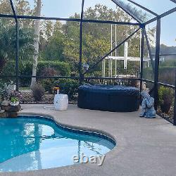 Aleko 145 Gallon 2 Person Oval Inflatable Jetted Hot Tub with Fitted Cover, Black