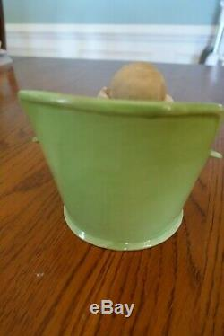 Antique German Gebruder Heubach Bisque Baby Doll Girl Porcelain Bath Tub Rare