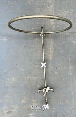 Antique Shower Head Ring Faucet Valve Mixer Nickel Brass Vtg Bathtub