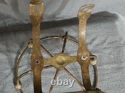Antique Victorian Brass Soap Sponge Holder Dish for Claw Foot Bath Tub