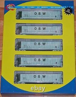 Athearn 94918 Bathtub Coal Gondola With Load 5-pack Oneida & Western Owtx