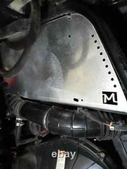 BLACK Polaris rzr 1000xp rear tub bed box guards turbo protectors plates shild