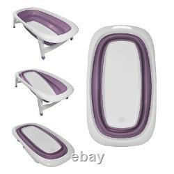 Baby Bath Time Foldable Splash & Play Lavender Purple Transportable BathTub