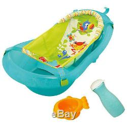 Baby Bath Time Splash & Play Animal Design Bath Tub + Sling+Washer Bottle+Rinser