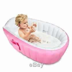 Baby Infant Inflatable Bath Tub Seat Bathe Helper Kid Toddler Portable Bathtub