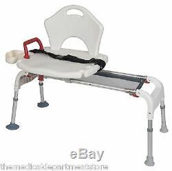 Bath Tub Transfer Bench Folding Universal Sliding Shower Chair Seat RTL12075