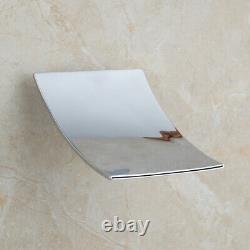 Bathroom Chrome Wall Mount Waterfall Shower Faucet Set Handheld Spray Mixer Taps