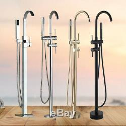 Bathtub Faucet Freestanding Floor Mounted Bath Tub Filler Faucet Shower Tap
