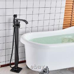 Bathtub Free Standing Floor Mounted Bath Mixer Tap Handheld Shower Bathroom Taps
