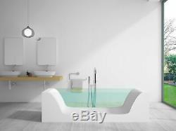 Bathtub Freestanding Solid Surface Bathtub Modern Soaking Tub Potenza 79