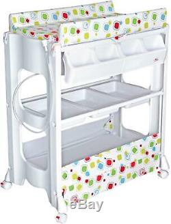 Bebe Style PORTABLE CHANGER UNIT WITH BATH Newborn Baby Changing Table Tub BN