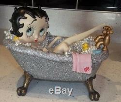 Betty Boop In Tub Bath Figure Figurine Ornament silver glitter new boxed