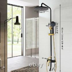 Black&Gold Shower Faucet Head Bathroom Rainfall Adjust Tub Mixer Hand Spray Sets