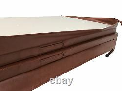 Brown Hot Tub Cover 2220mm x 2220mm Deluxe Heat Lock