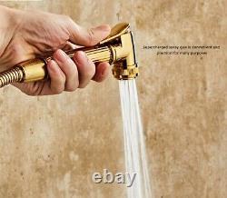 Brushed gold Bath Set Temperature Digital Shower Faucet Set Tub Mixer Tap+Hand