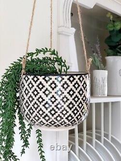 Ceramic Hanging Flower Plant Pot Planter Modern Indoor Outdoor Houseplant Pot