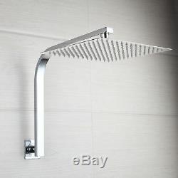 Chrome Bathroom 8 Rain Bath Shower Faucet Set Mixer Tub Tap with Hand Sprayer