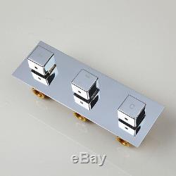 Chrome Shower Faucet Set Bathroom Rain Bath Mixer Tub Taps With Hand Sprayer3254