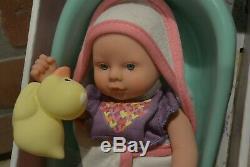 Circo Target Mini 8 Baby Doll Bathe & Play Set Bath Tub Rubber Duck Blue Eyes