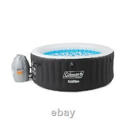 Coleman Miami Spa 4 Person Portable Inflatable Outdoor Air Jet Hot Tub, Black