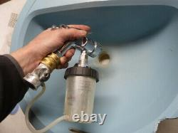 Compact HVLP Turbine Paint Spray Gun with3M PPS bathtub refinisher tight areas