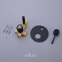 Concealed Bathtub Shower Mix Tap Set 2 Ways Diverter Valve Handheld Shower Kit