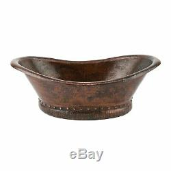 Copper Basin Bath Handmade Tub, Vessel Hammered Copper antique sink-Bathroom sink